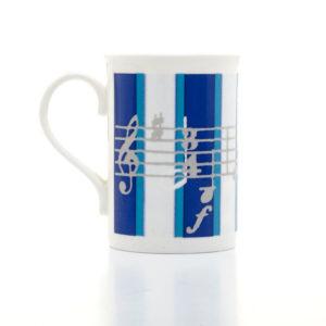 Blue Music Mug